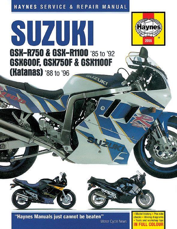 Haynes Suzuki Gsx-r & Katana Superbike (1985-1996)   manual gsx750 ...