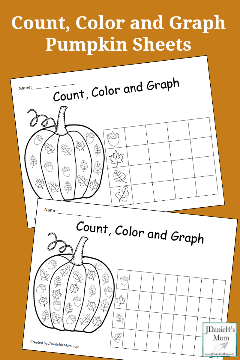 Count, Color and Graph Pumpkin Sheets- This is a set of free ...