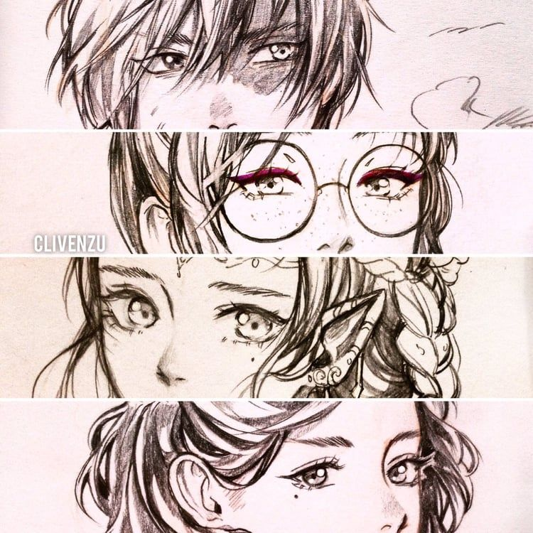 anime boy girl flower fantasyart eyes closeup