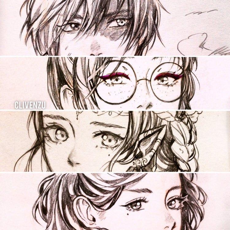 anime boy girl flower fantasyart eyes closeup