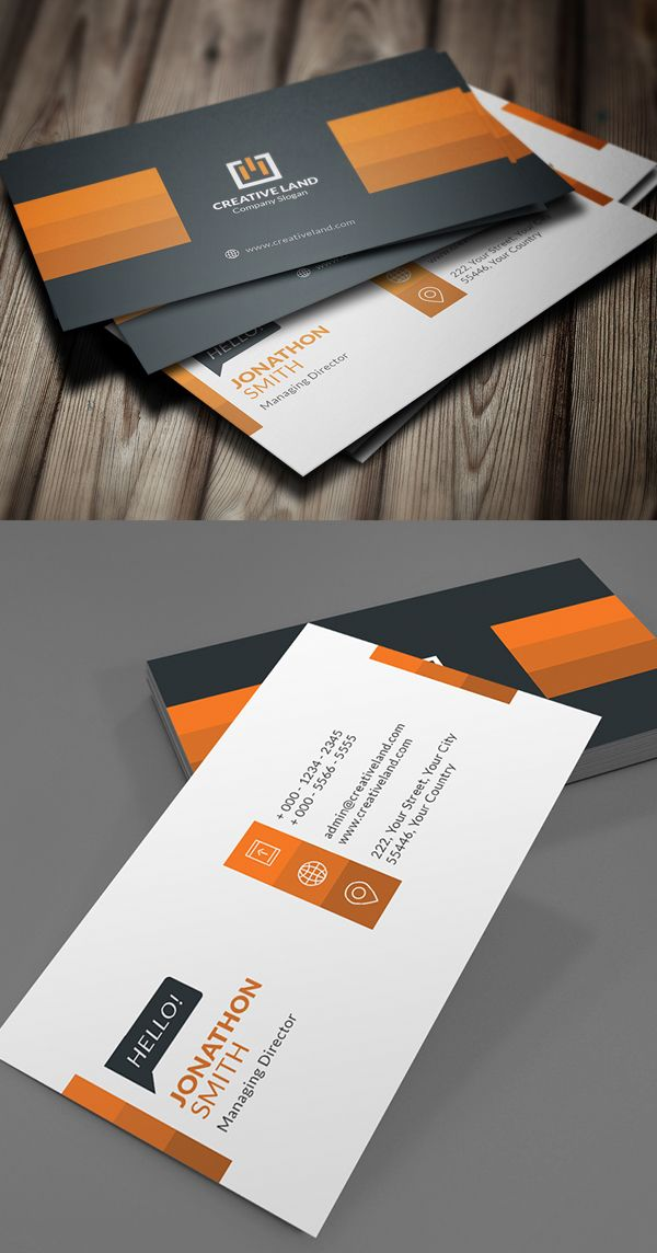 Creative Business Card Design | デザインアイディア | Pinterest ...