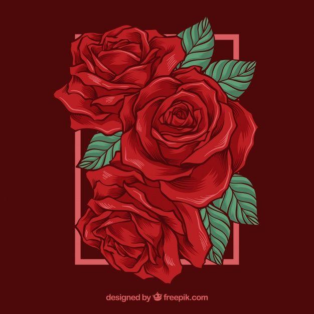 Pin De Anne En Flowers Rosas Ilustraciones Y Rosas Rojas