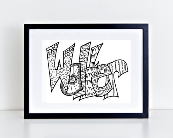 color your name walter printable coloring pages for kids and adults use for rainy day activityturn into wall artuse your imagination