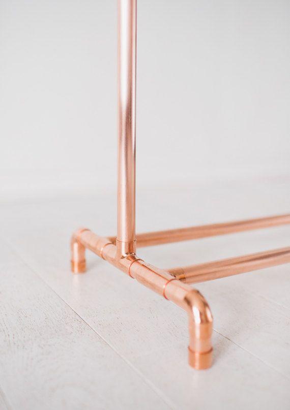 Pin On Cabideiro De Cano, Rose Gold Garment Rack