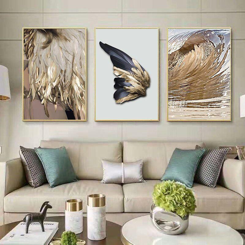 Abstract Wings Canvas Wall Art Wall Decor Living Room Modern Living Room Pictures Wall Decor Living Room