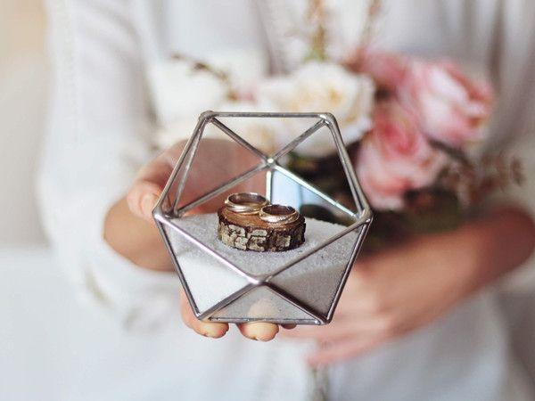 Geometric Glass Ring Bearer Box Wedding Ring Box Glass Wedding Ring Box Glass Ring Bearer Box