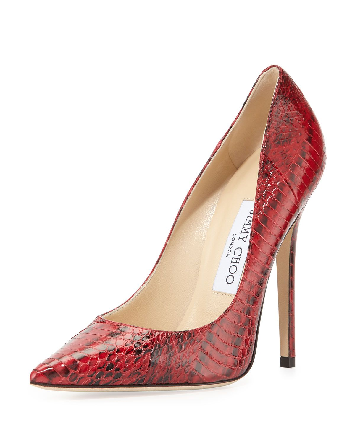 b19dd89de4a Anouk Glossy Snakeskin Pump Red | *Apparel & Accessories > Shoes ...