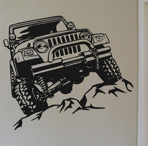 Jeep rock crawler vinyl wall decal graphic by mojographics for Tattoo shops in greeley