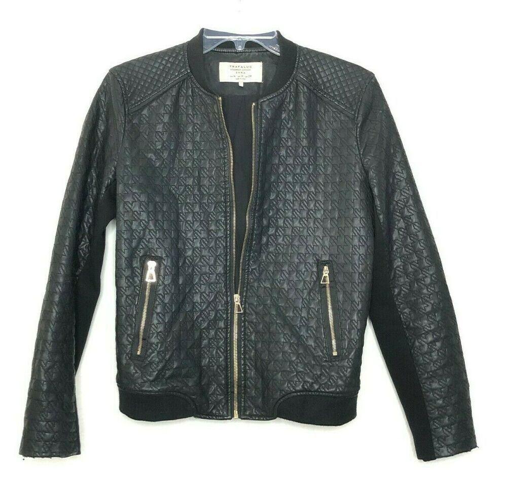 Zara Trafaluc Outwear Black Zip Up Bomer Jacket Size M Hk Ebay In 2021 Black Zip Ups Zara Jackets [ 969 x 1000 Pixel ]