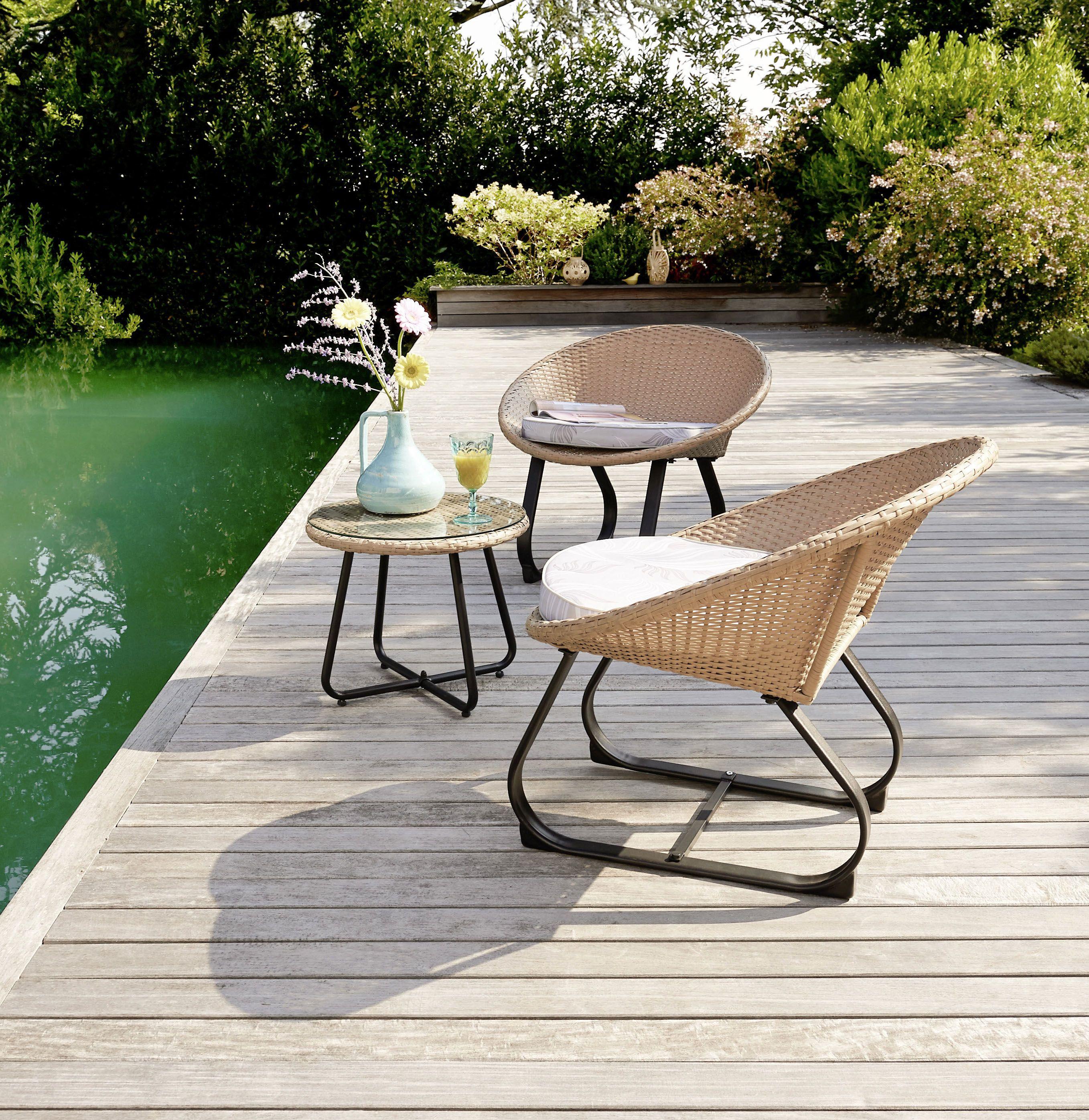 Creez Un Espace Detente Et Cosy Avec Notre Set De 3 Pieces Natura Livin Intermarche Jardin Terrasse Espace Detente Maison Terrasse