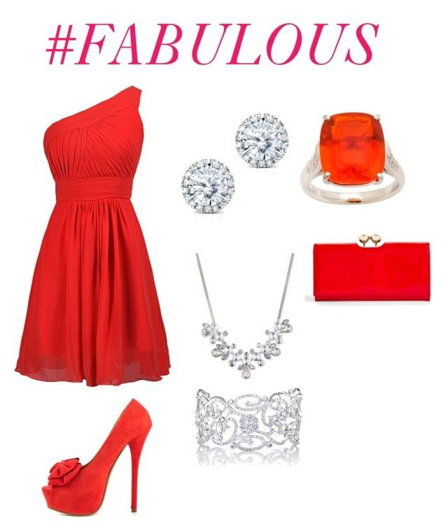 """Blood Moon Ball"" by aria8602 on Polyvore featuring Givenchy, JustFabulous, Ted Baker and Kobelli"