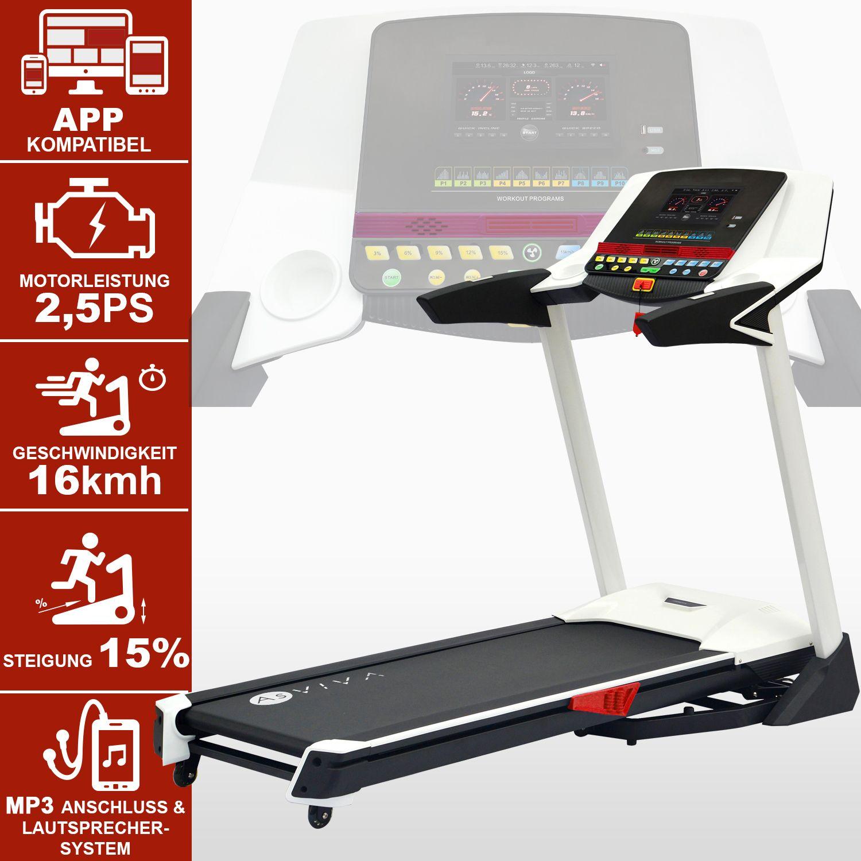 Laufband AsVIVA T14 App Bluetooth Media Treadmill