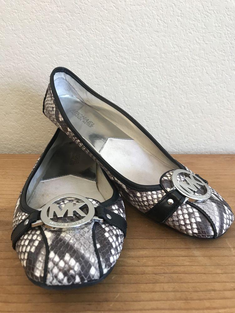 Snakeskin flats, Shoes, Michael kors