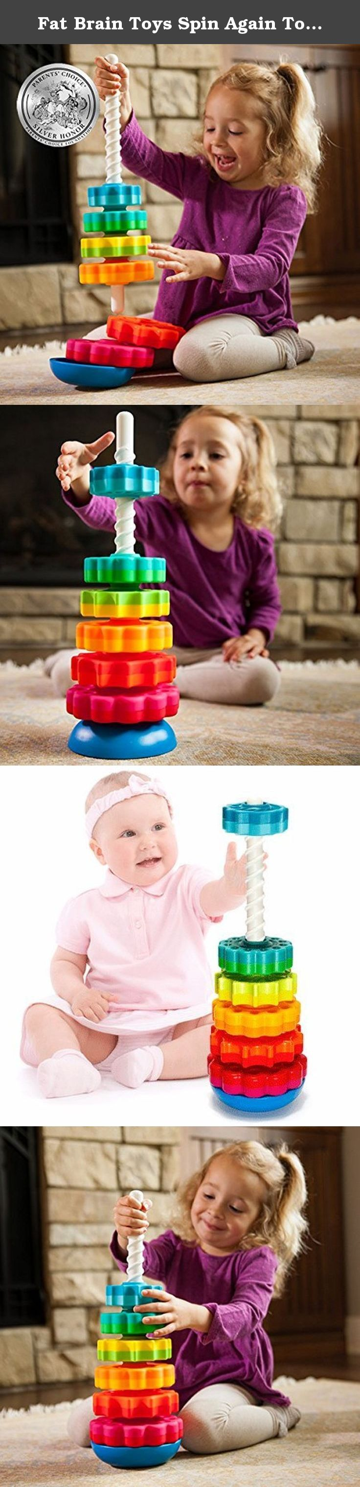 Fat Brain Toys Spin Again Toy Baby It s a stacking toy with a