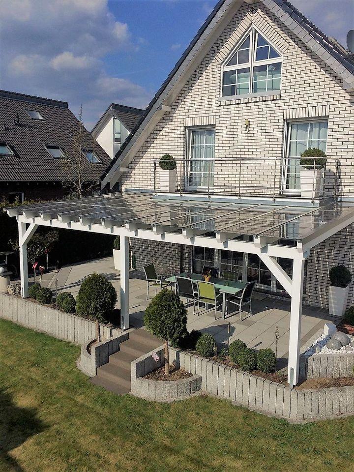 Terrassenüberdachung in Weiß | Überdachung terrasse ...