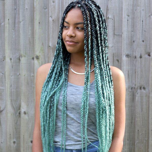 Catface Hair Mint Green Ombre Jumbo Braiding Hair Hair Styles Braid In Hair Extensions Braided Hairstyles