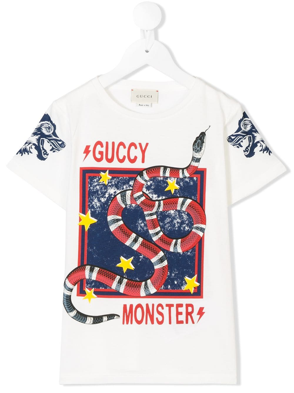 a49cd3411 Gucci Kids Guccy Monster T-shirt - White in 2019 | Products | Gucci ...