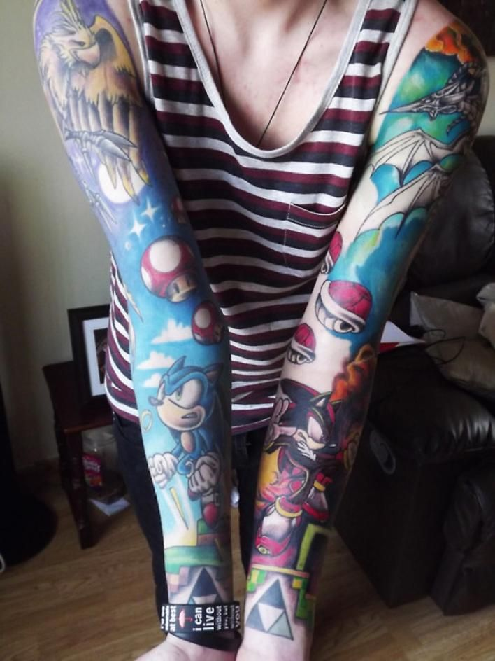 Ink Inked Tattoo Tattoos Body Modification Art Nintendo