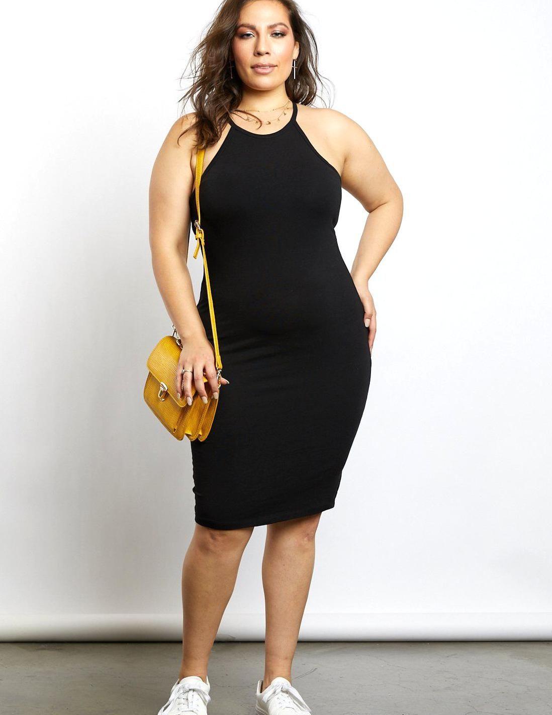 Plus Size Alexa Halter Racerback Dress Plus Size Midi Bodycon Dresses 2020ave In 2020 Plus Size Outfits Racerback Dress Fashion [ 1423 x 1098 Pixel ]