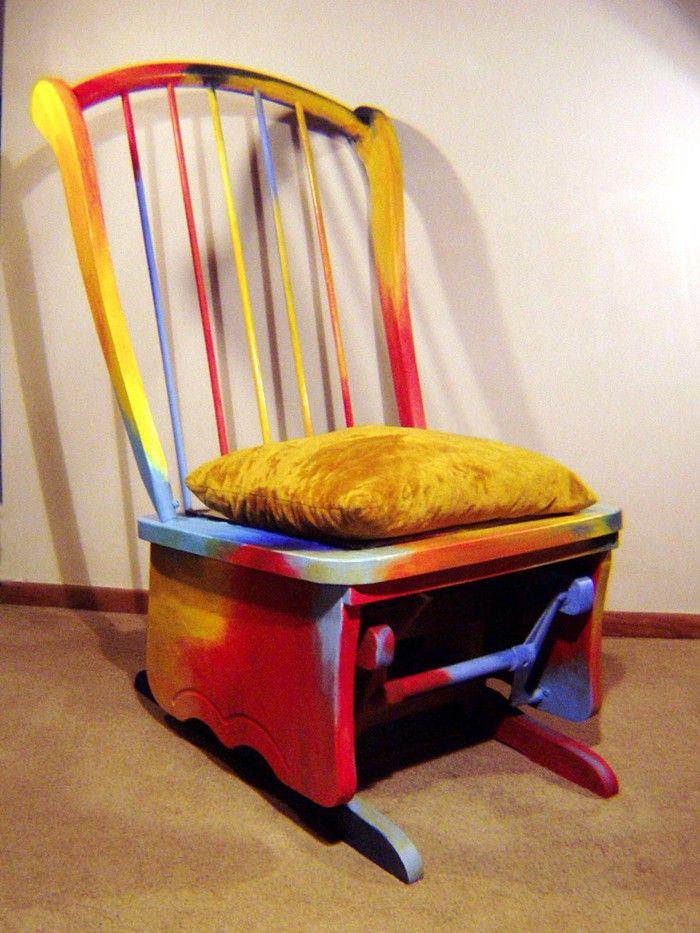 Wonderful Einfache Dekoration Und Mobel Alte Stuehle Mit Hussen Aufhuebschen #7: 42 Upcycling Ideen, Wie Man Alte Stühle Dekorieren Und Bemalen Kann