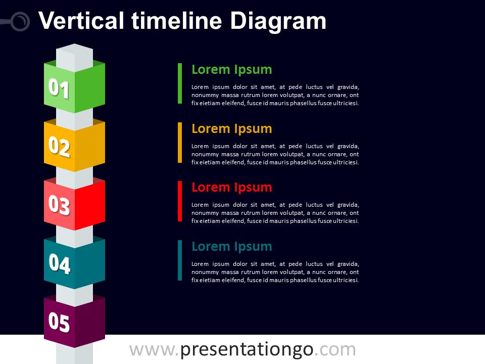 Vertical timeline powerpoint with cubes presentationgo dark free vertical timeline cubes powerpoint diagram dark background toneelgroepblik Image collections
