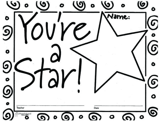 Youre A Star Certificate 1 Cant Believe Im Thinking About