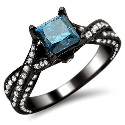 1.82ct Blue Princess Cut Diamond Pave Engagement Ring 14K Black Gold Front Jewelers,http://www.amazon.com/dp/B00E7YI1OC/ref=cm_sw_r_pi_dp_36eatb0PB8YT811Y