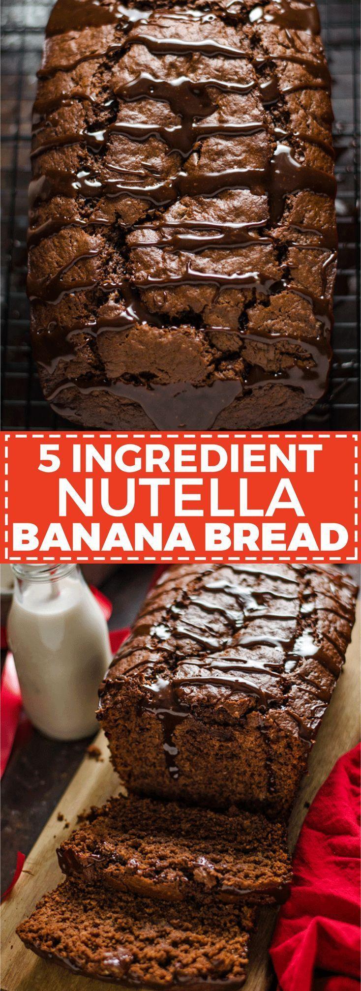 5 ingredient Nutella Banana Bread  Host The Toast 5 ingredient Nutella Banana Bread  Host The Toast