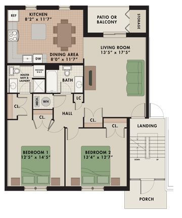Alpine Deluxe 2 Bedroom 2 Bathroom Common Entrance 1 150 Sq Ft Indian House Plans Apartment Plans Apartments For Rent