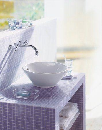 DURAVIT Bacino : Lavabo de cerámica sanitaria sobre encimera, con rebosadero, sin bancada para grifería, para montaje sobre encimera o sobre mueble. ventas@catalunya.com.pe