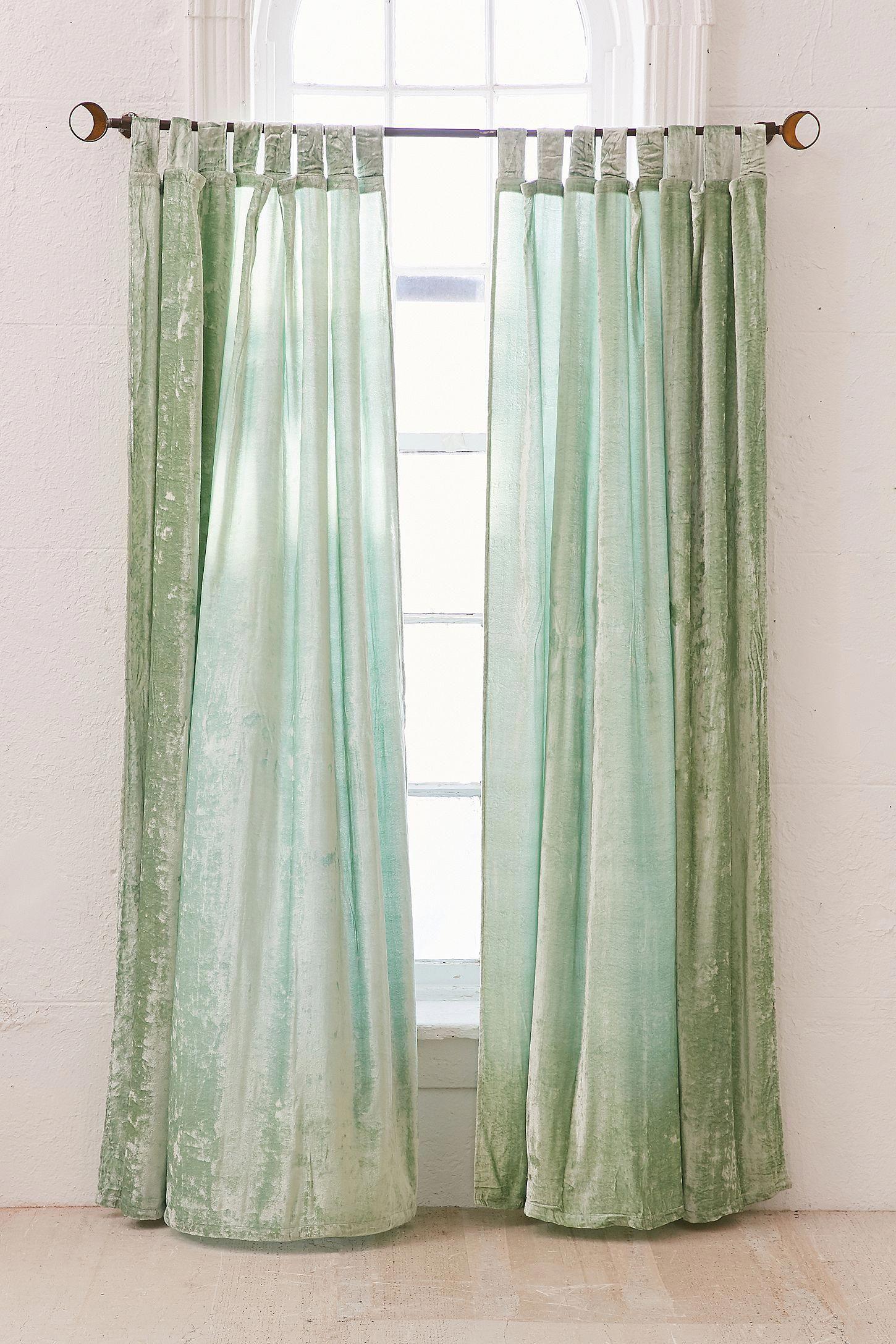 Window coverings to block sun  slide view  crushed velvet window curtain winter  winter in
