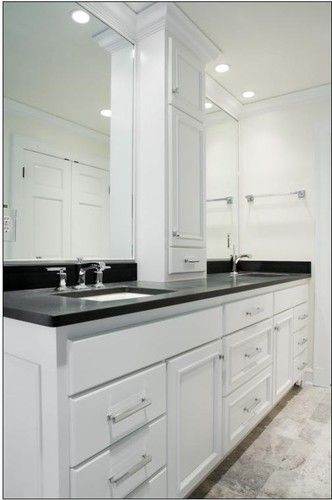 Not In White Maybe Light Greydouble Sink Vanity W Center Tower