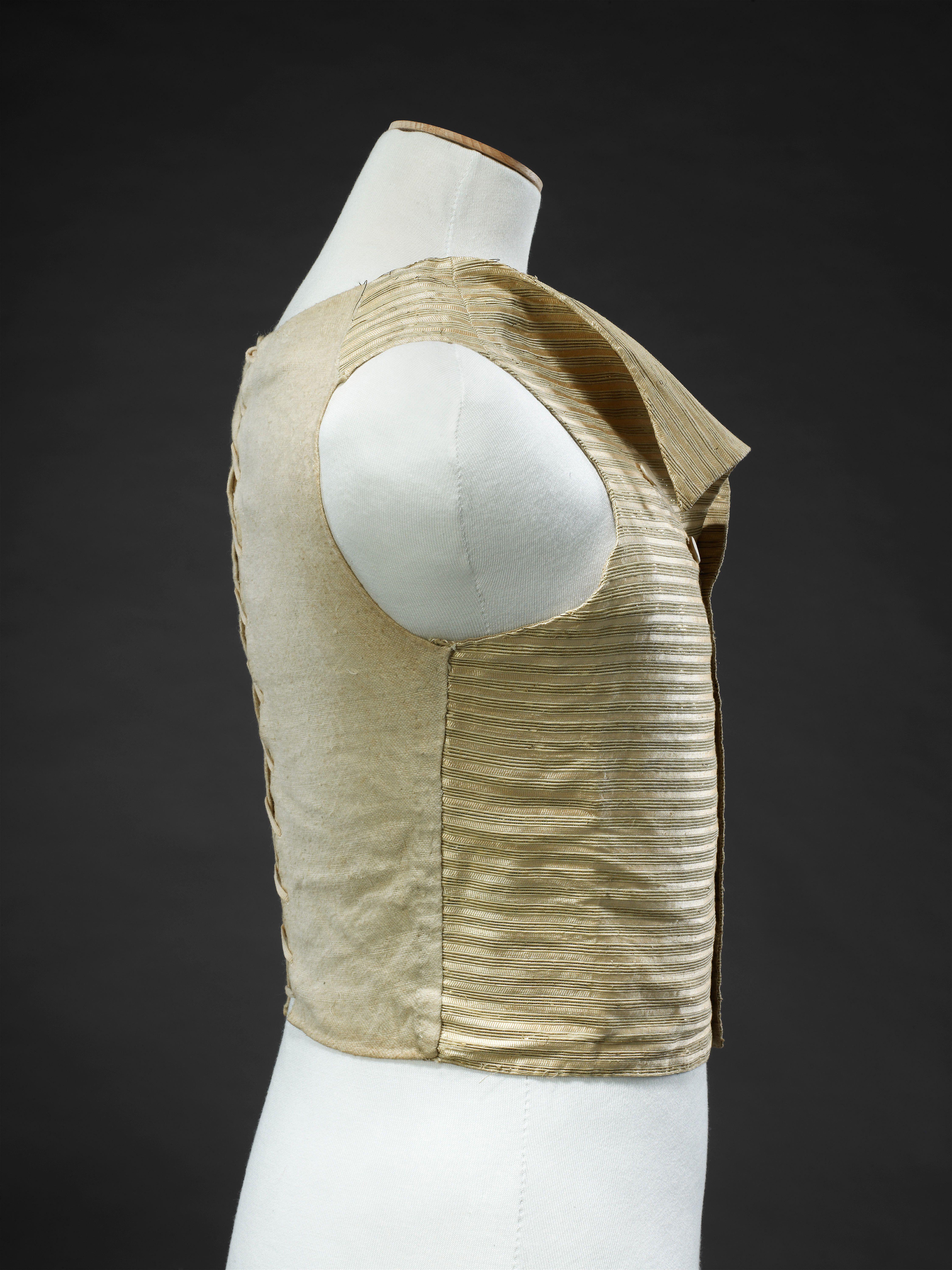 1780s 90s Woman S Waistcoat View 3 Waistcoat Fashion Mixing