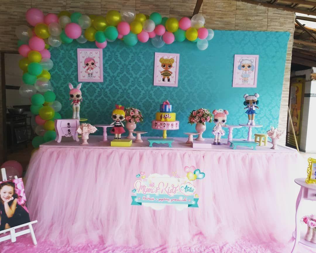 Decoraç u00e3o Lol Surprise Duda fez 6 anos #MimosKidsAtelie #Apaixonada #lolsurprise #tudolindoo  # Decoração De Festa Lol Simples