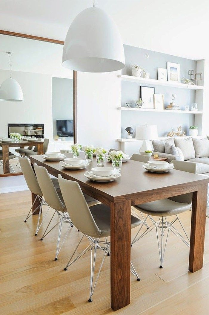 Sillas Que Combinan Con Una Mesa De Comedor De Madera Mesas De Comedor De Madera Apartamento Contemporaneo Decoracion De Comedor