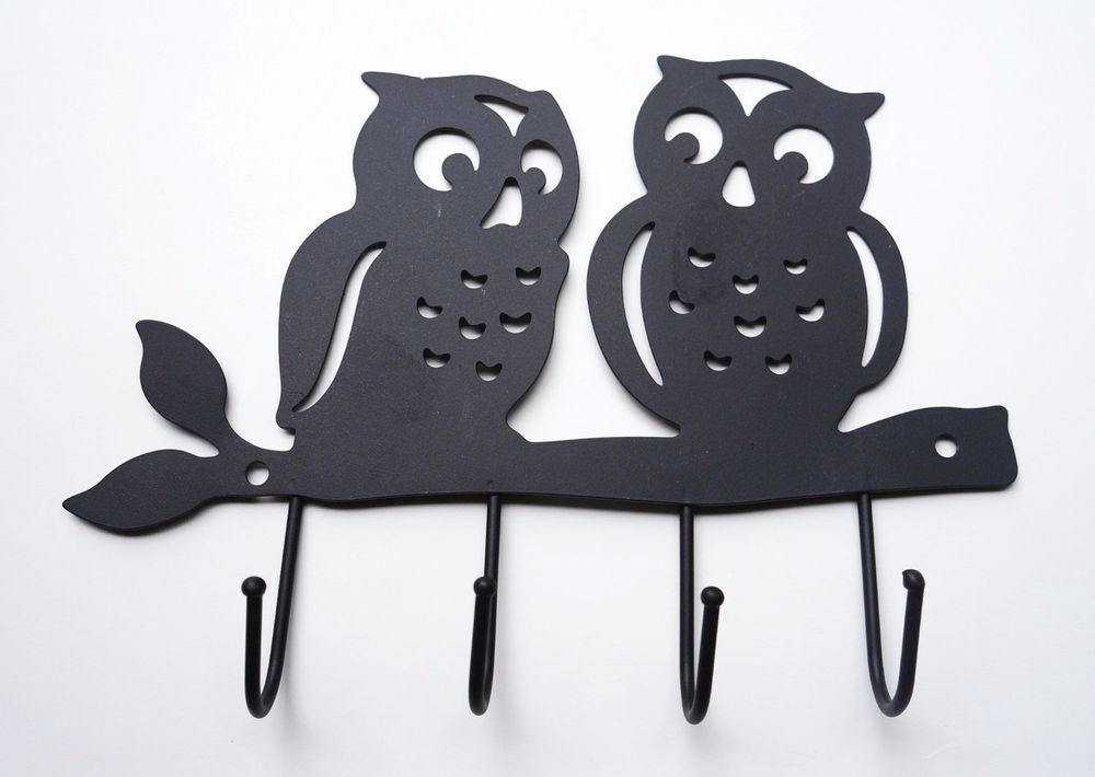 Key Holders For Wall zoohu black owl wall mount key holder   morgret's trading post