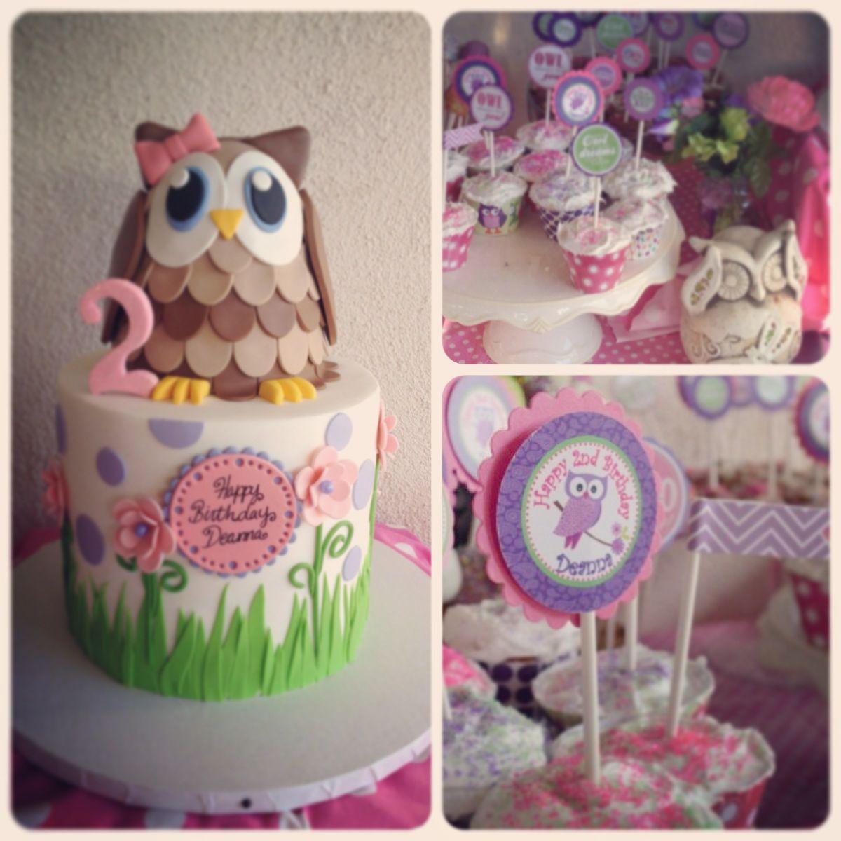 My Little Girl 2nd Birthday Owl Theme