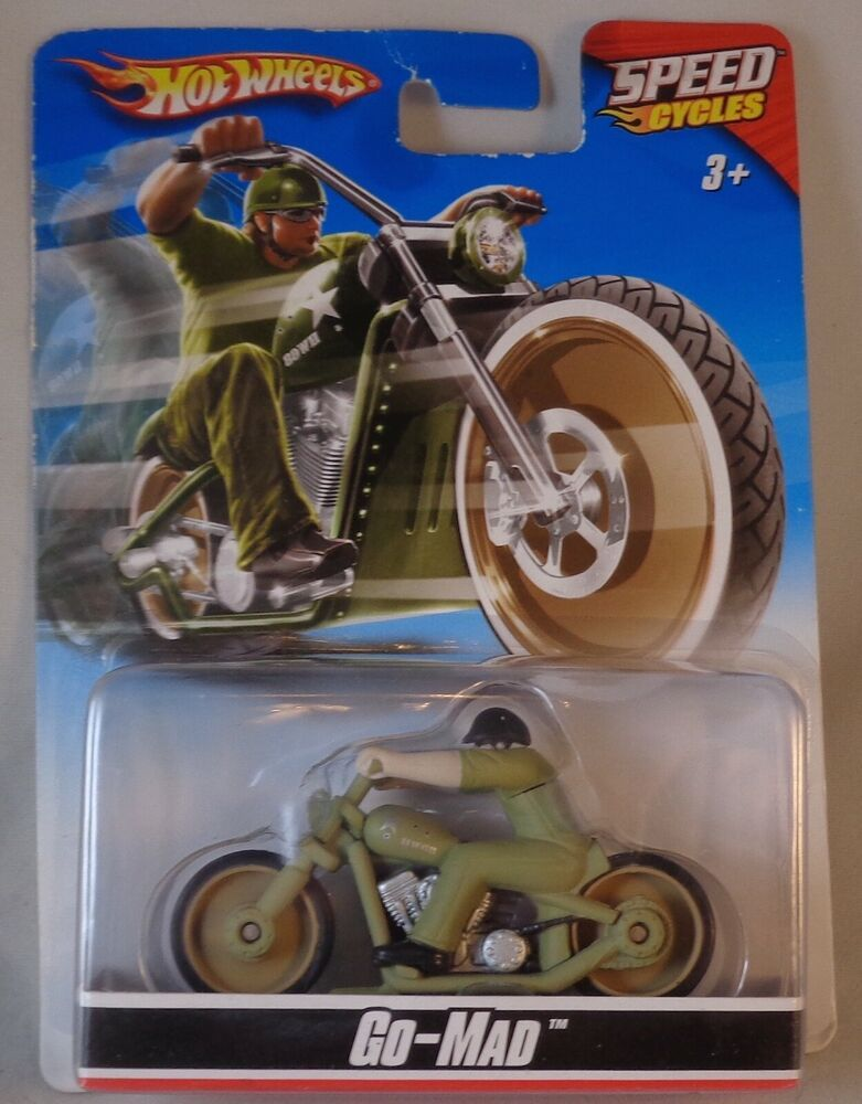 Hot Wheels Mattel Motor Cycles Go Mad Motorcycle Bike Chopper