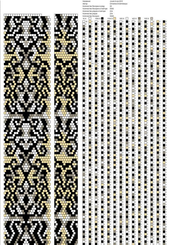 Beaded Pattern Bead Crochet Rope Pattern For Seed Beads Beaded
