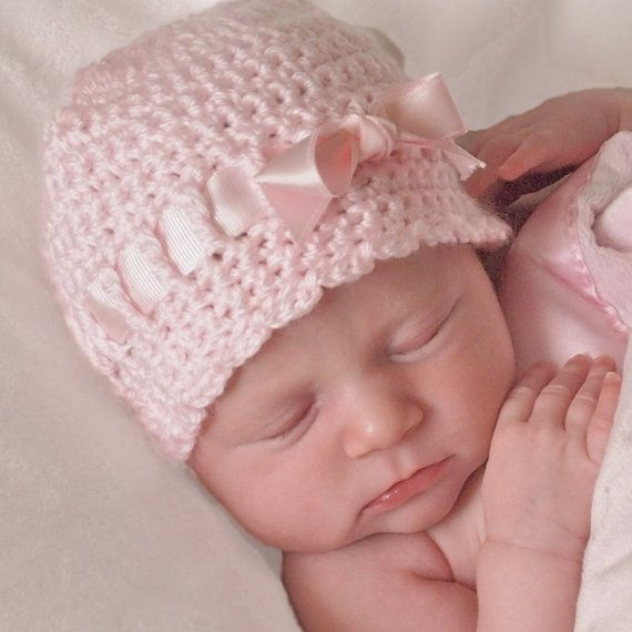 Newborn Bow Hat, Newborn Crochet Hat Pattern, Crochet Baby Hat, Newborn Girl, Baby Shower Gift,Newborn, Crochet Pattern, Newborn Hat