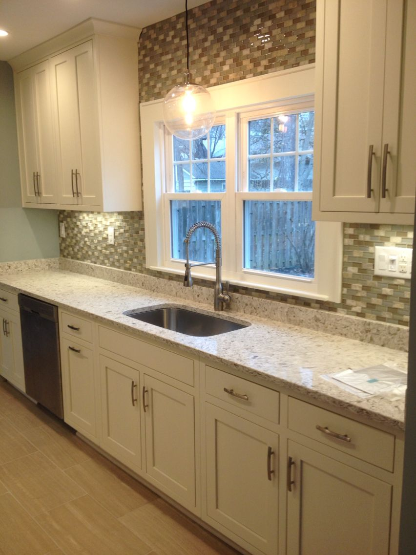 Siberian white quartz countertops by Just for Granite. Light ...