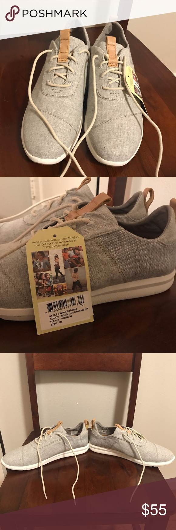 0afa02c6b17 TOMS Sneakers New with tags! Adorable shoes I bought on Abbot Kinney in LA. Toms  Shoes Sneakers