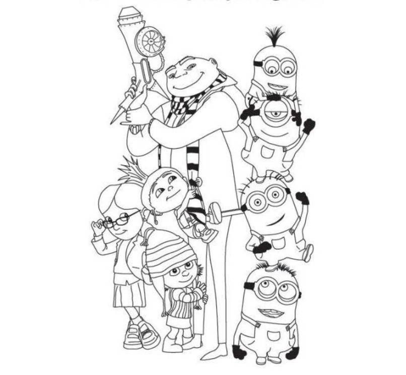 despicable me minions coloring pages - Despicable Coloring Pages Dave