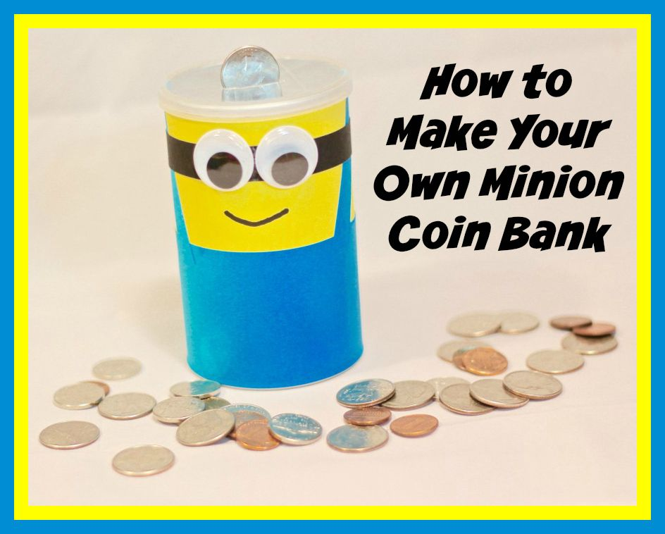 #DIY #Fandango #FandangoFamily #Minions #ad   Make Your Own DIY Minion Coin Bank