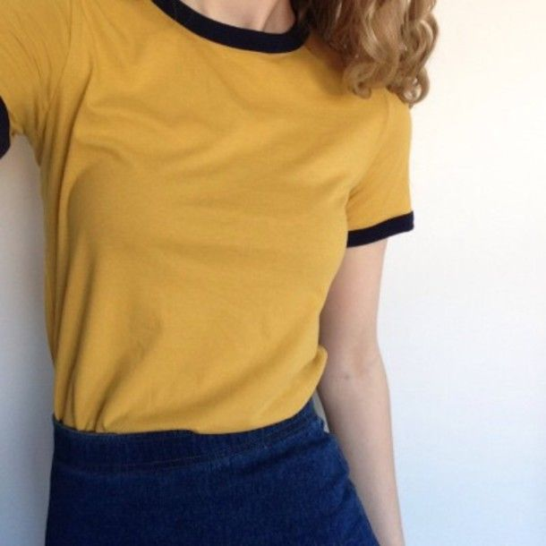 shirt yellow top t-shirt yellow mustard tumblr t-shirt aesthetic tumblr  aesthetic mustard ringer tee top ranger tee t-shirt t-shirt mustard crewneck  black aa7ec7f04f9d