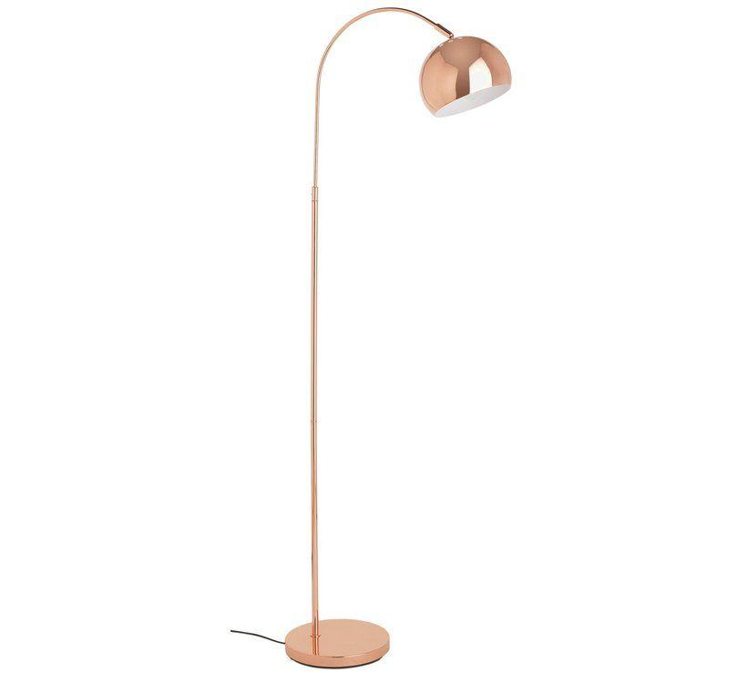 Buy HOME Curva Floor Lamp - Copper | Floor lamps | Argos | Home ...