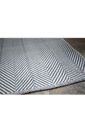 Salvationjanehome Elspeth S Room Salvation Rugs Usa Chalet Herringbone Cotton Flatwoven Navy Rug Also In Grey