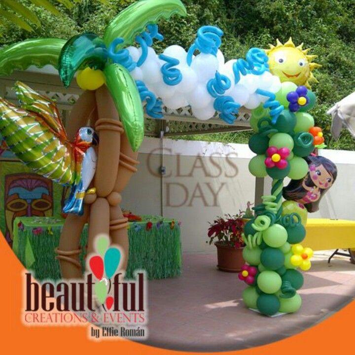 Hawaiian balloon arch | decoraciones de Actividades | Pinterest ...