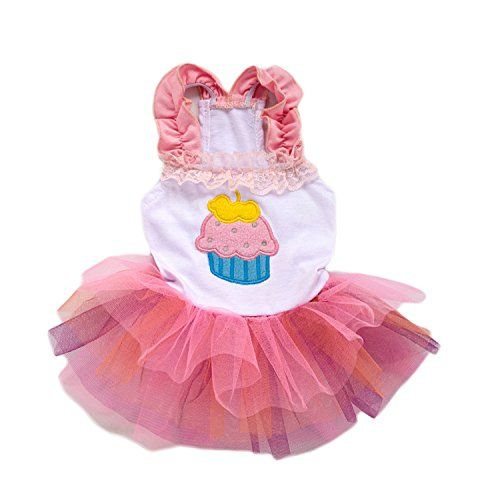 a88395d3fc36 Ollypet Cute Tutu Dresses for Girls Dogs Clothes Cupcake Apparel Small Cats  Puppy *** Visit the image link more details.
