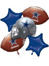 Dallas Cowboys Balloon Bouquet